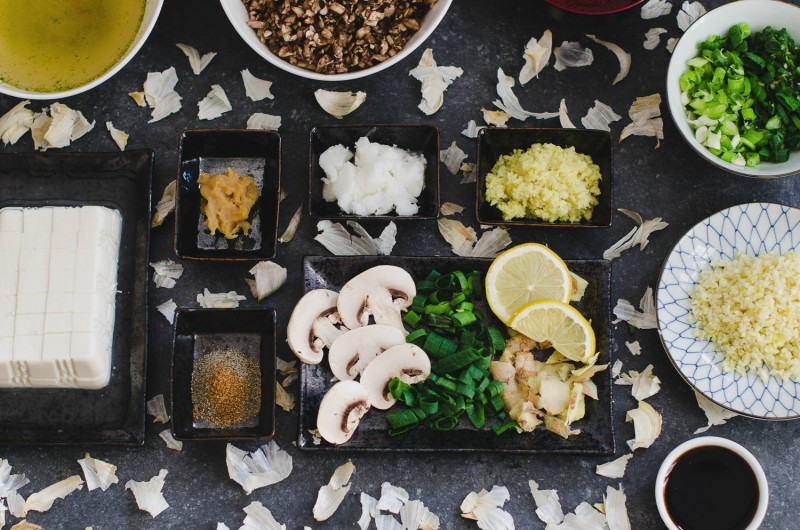 KaoriAnne vegan mapo tofu recipe - ingredients