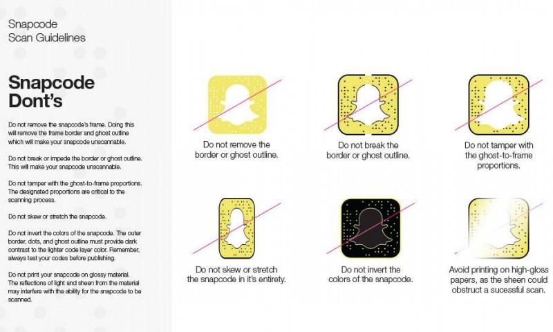 Snapchat snapcode guideline