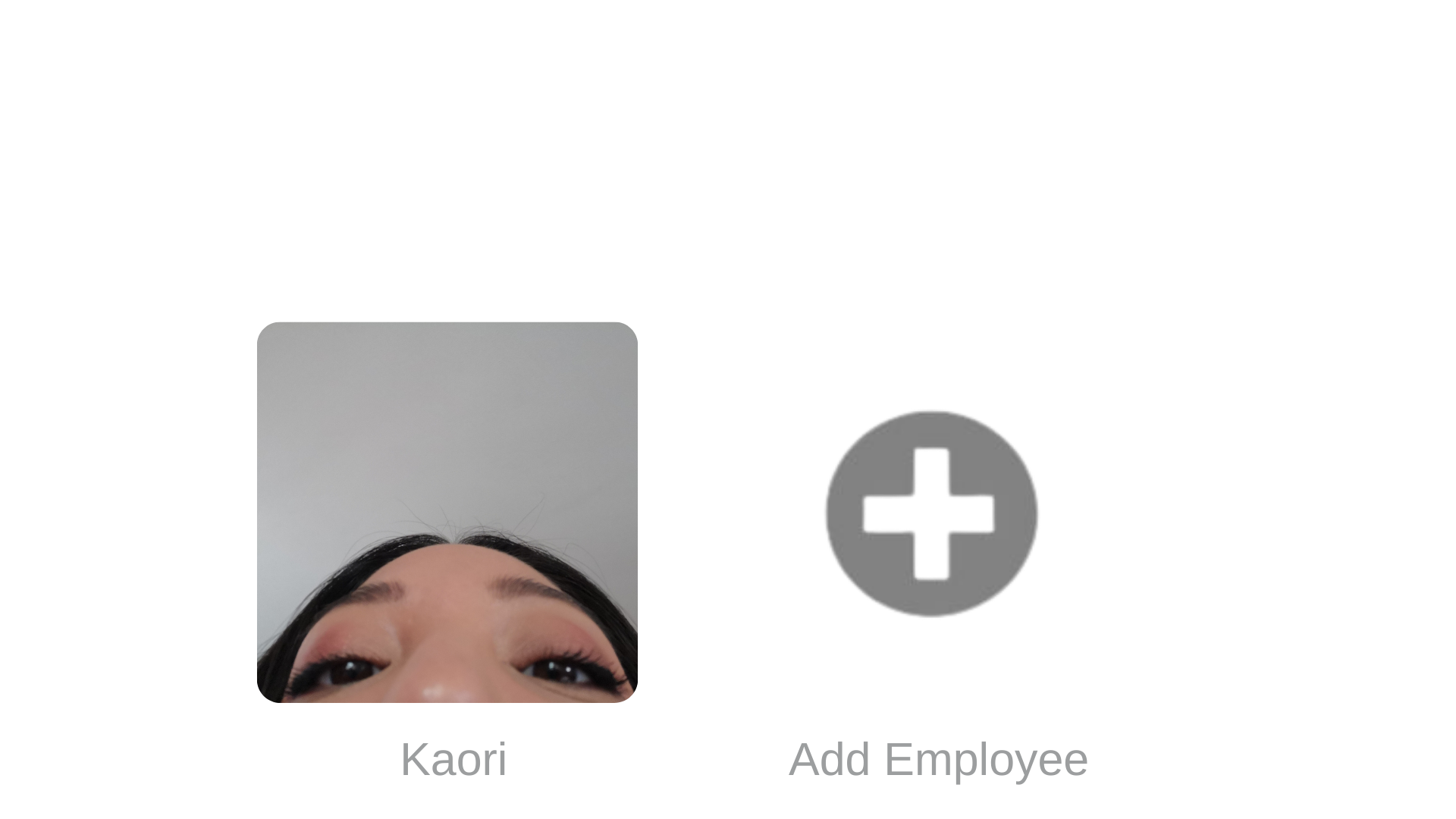 "Image similar to Netflix's start-up screen ""Who's watching?"" but it instead says ""Who's applying?"" with half a face appearing as the profile photo. The image also has ""Add Employee"" instead of Netflix's ""Add Profile"""