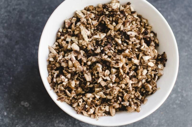 KaoriAnne vegan mapo tofu recipe diced mushrooms